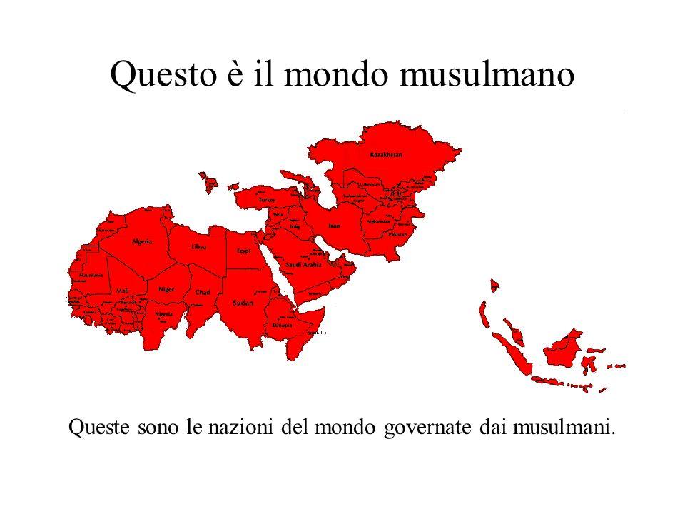 Questo è il mondo musulmano Queste sono le nazioni del mondo governate dai musulmani.