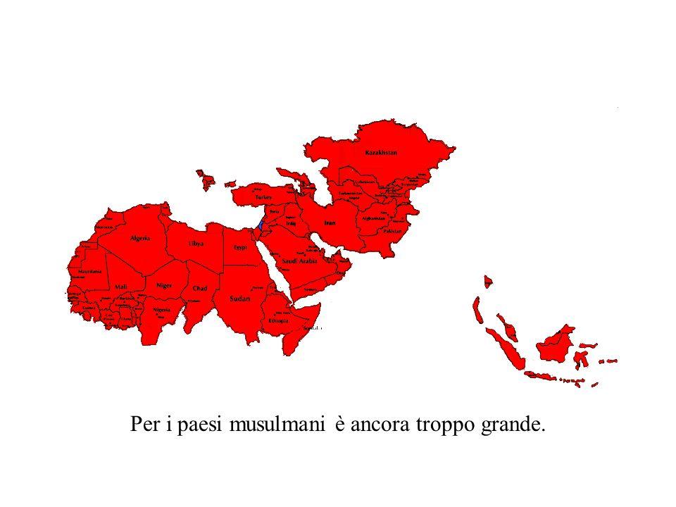 Questo è Israele Le dimensioni di Israele sono un millesimo di quelle dei paesi musulmani.