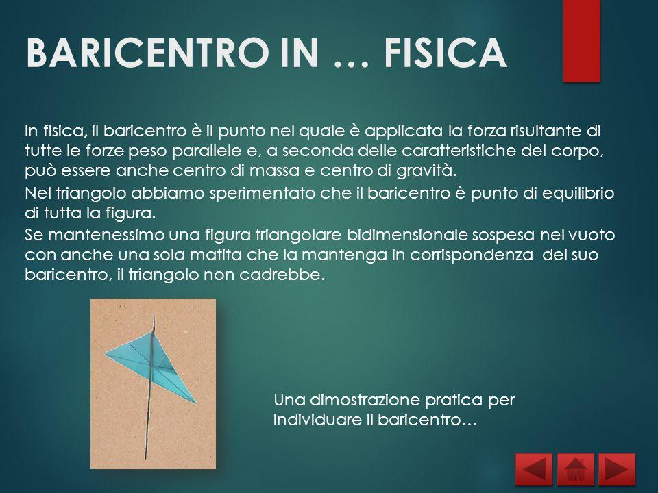 BARICENTRO IN … FISICA Nella figura a destra abbiamo riportato la Torre di Pisa.