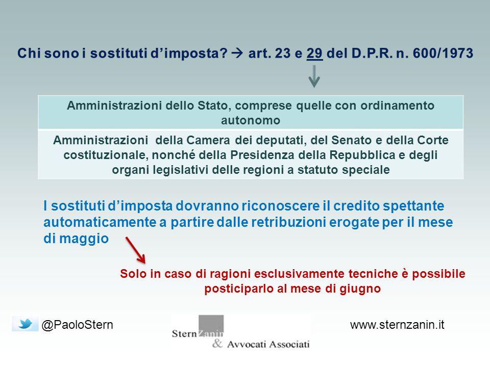 @PaoloSternwww.sternzanin.it Amministrazioni dello Stato, comprese quelle con ordinamento autonomo Amministrazioni della Camera dei deputati, del Sena