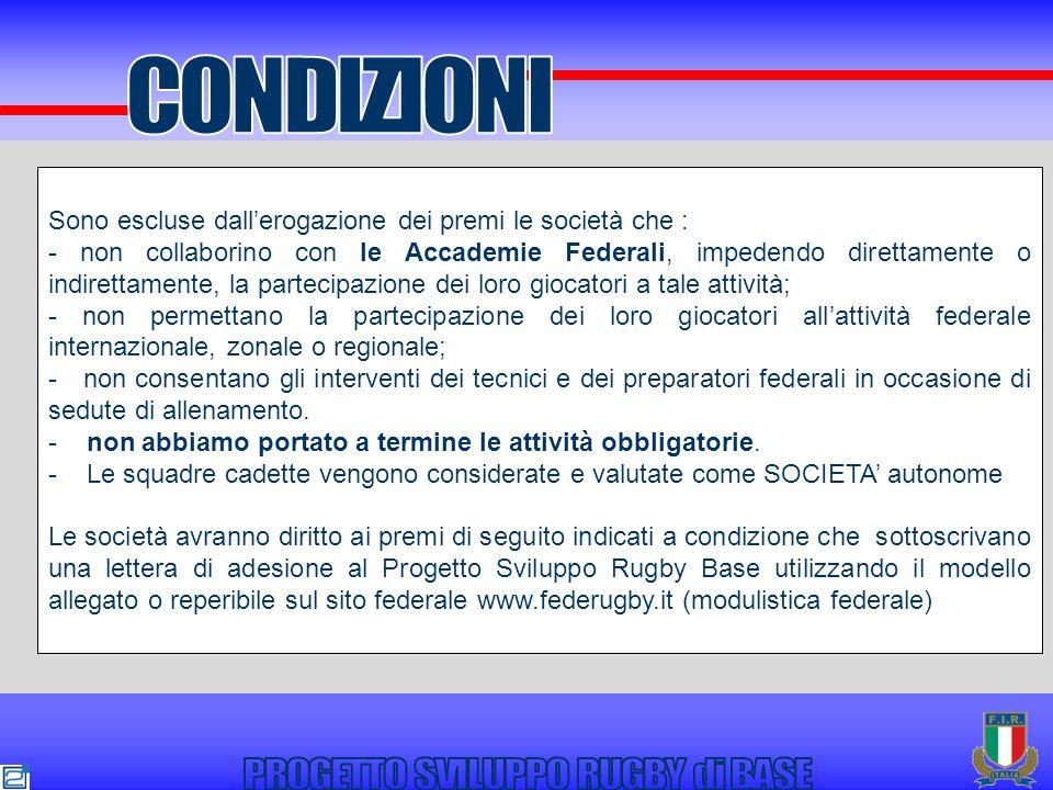 Spett.le FEDERAZIONE ITALIANA RUGBY Ufficio Tecnico Foro Italico Stadio Olimpico 00198 ROMA Fax 06.45213178 e-mail: tecnico@federugby.it Il sottoscritto.................................................................................................nella sua qualità di Presidente e legale rappresentante della Società denominata......................................................................................................................(cod.n........................................) DICHIARA di aderire al Progetto Sviluppo Rugby di Base per la stagione sportiva 2010-2011 al fine di conseguire i premi dallo stesso previsti in favore delle Società, alle condizioni ivi indicate.