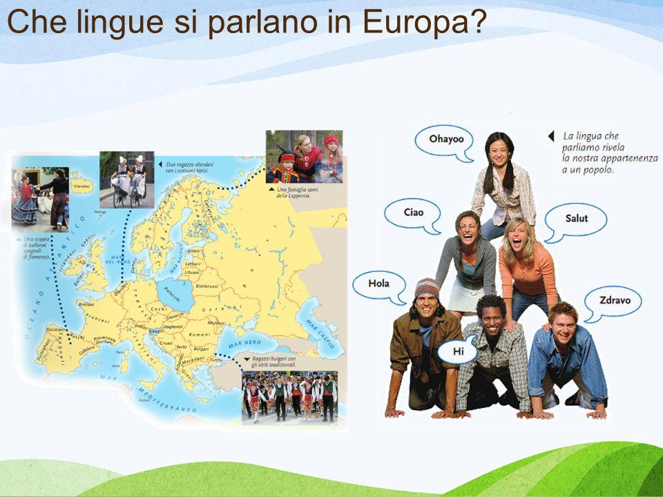 Che lingue si parlano in Europa?