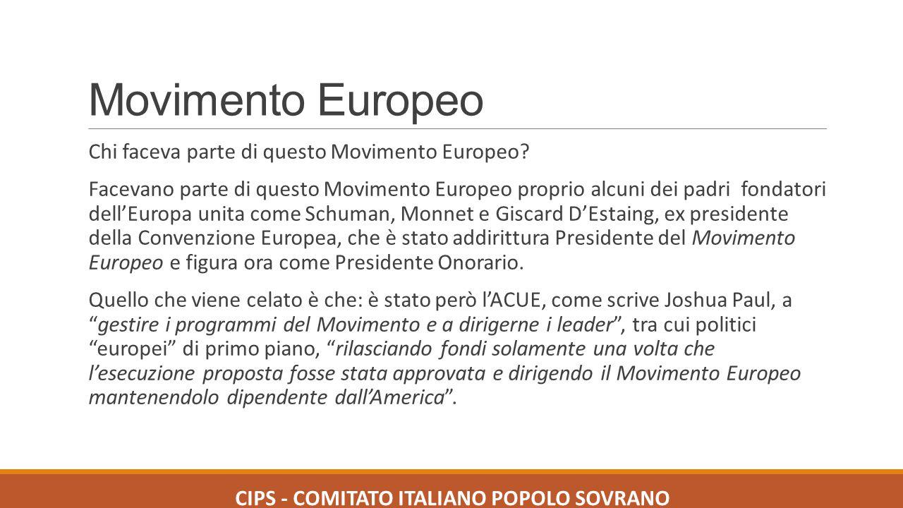 Movimento Europeo Chi faceva parte di questo Movimento Europeo? Facevano parte di questo Movimento Europeo proprio alcuni dei padri fondatori dell'Eur