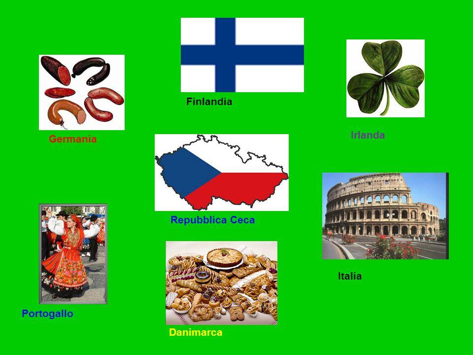 Germania Finlandia Irlanda Portogallo Italia Danimarca Repubblica Ceca