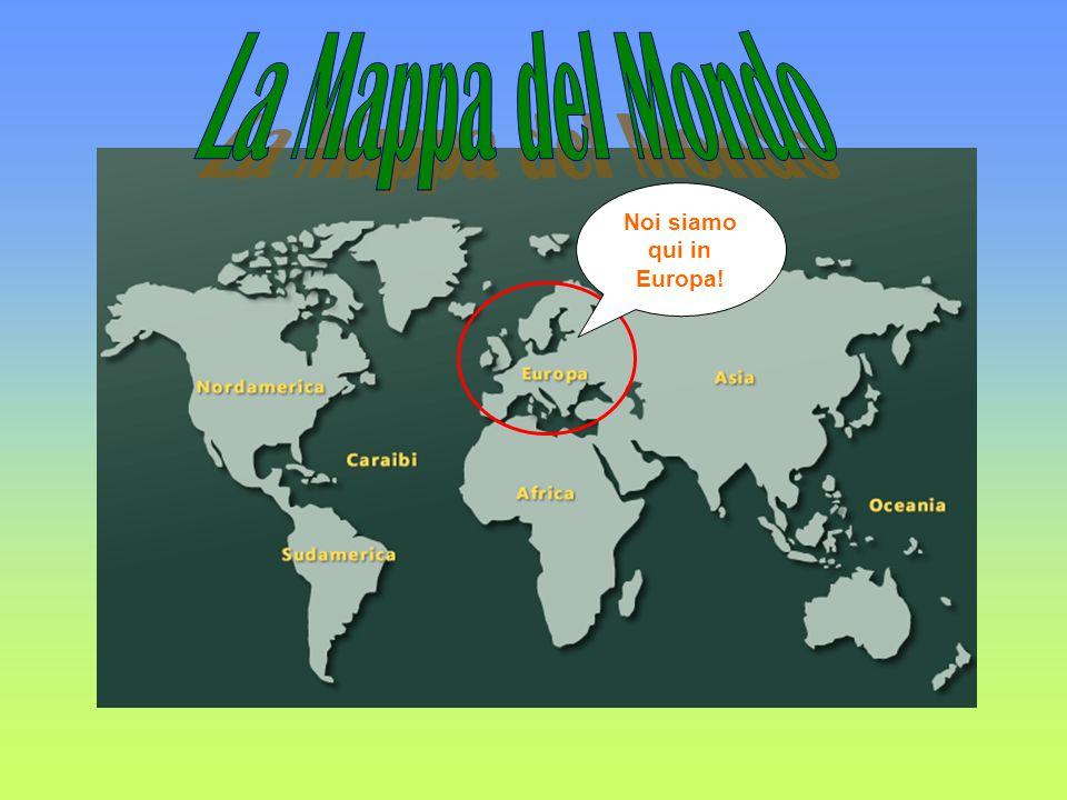 La Mappa d'Europa Chloé, Liat, e Kieran vengono dal Regno Unito Adesso, siamo a Reggio Calabria, In Italia.