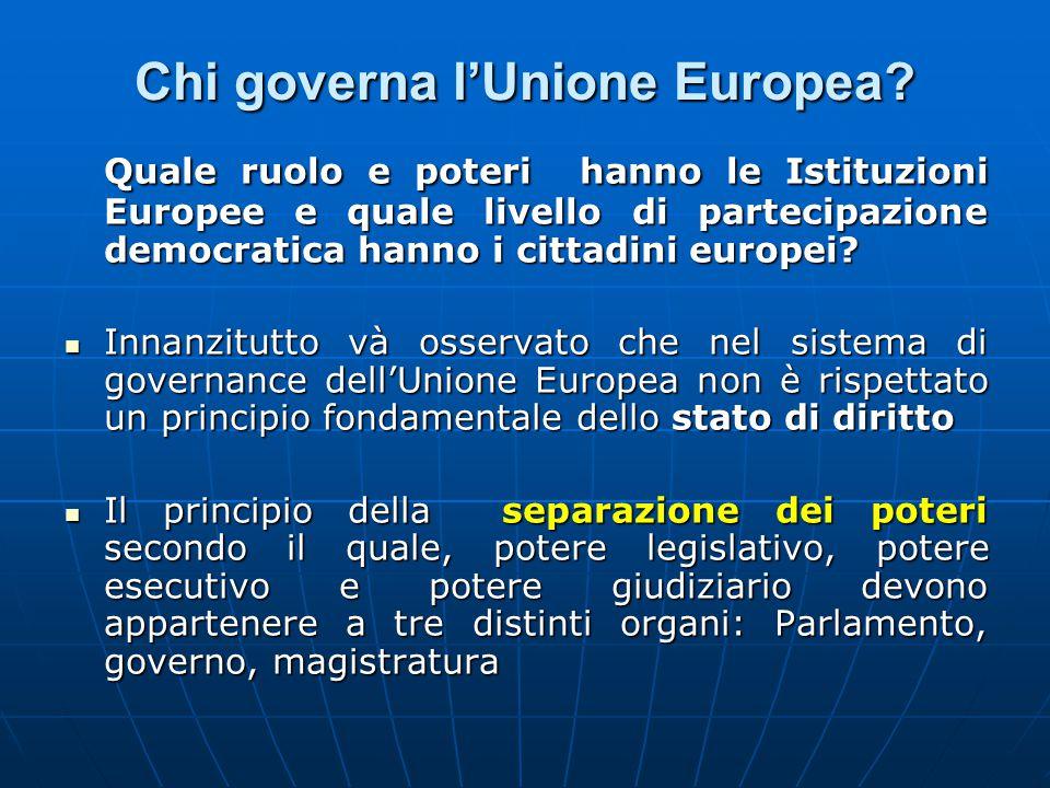 Chi governa l'Unione Europea.
