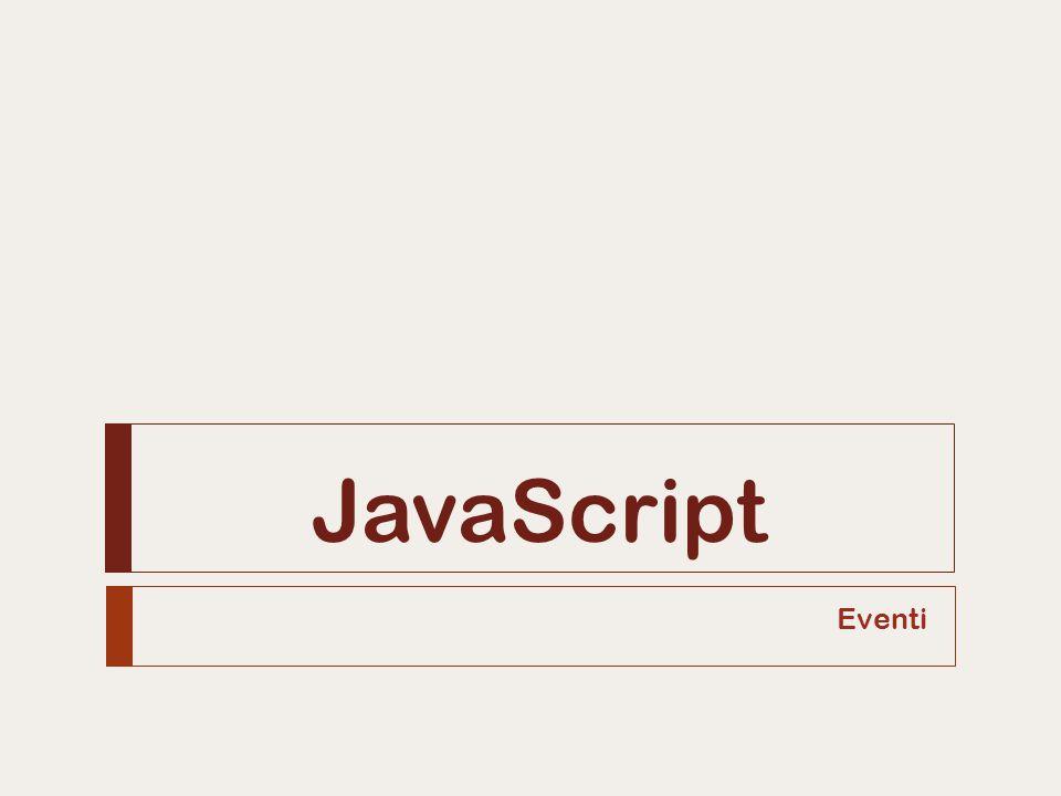 JavaScript Eventi