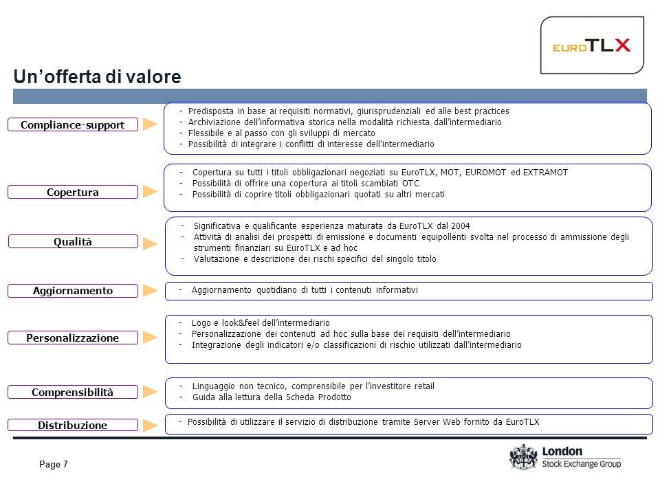 Page 7 Un'offerta di valore Compliance-support - Predisposta in base ai requisiti normativi, giurisprudenziali ed alle best practices - Archiviazione