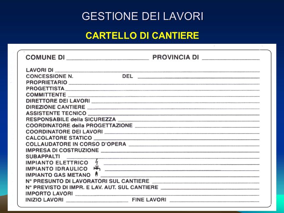 CARTELLO DI CANTIERE