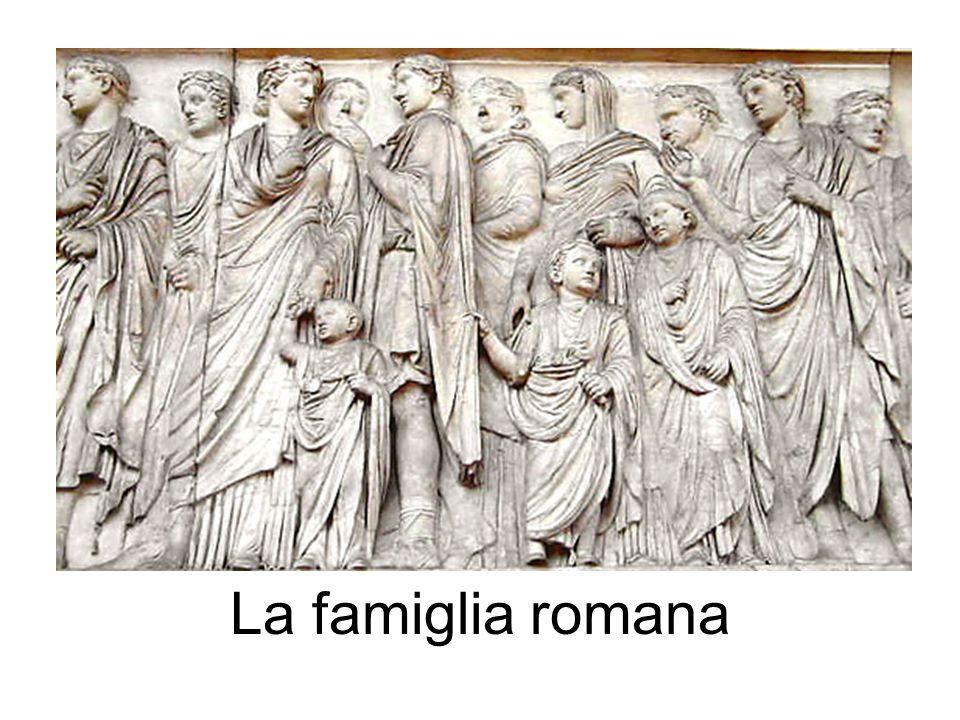 Pater familias Aveva totale potestas sui beni e sulle persone, che facevano parte della famiglia.