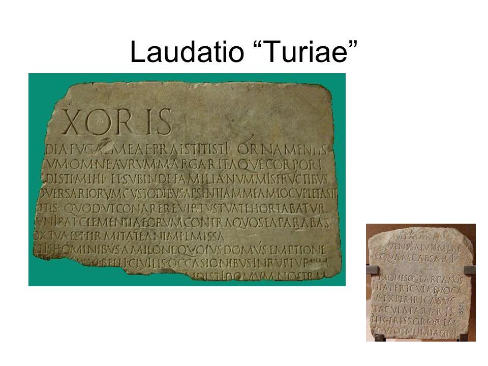 """Laudatio """"Turiae"""""""