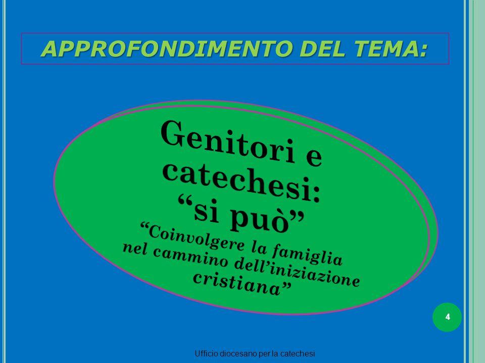 4 Ufficio diocesano per la catechesi La parrocchia deve rinnovarsi sul serio 2 APPROFONDIMENTO DEL TEMA: