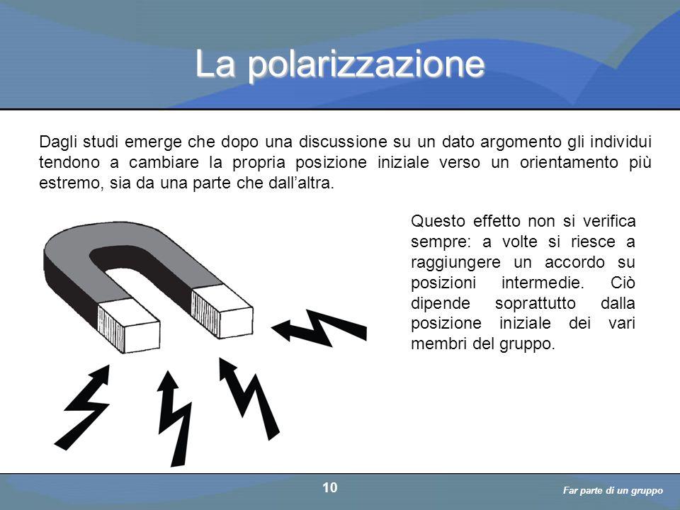 a cura di D. Bellè Laboratorio e-Learning (LabeL) Università di Udine 10 La polarizzazione Dagli studi emerge che dopo una discussione su un dato argo