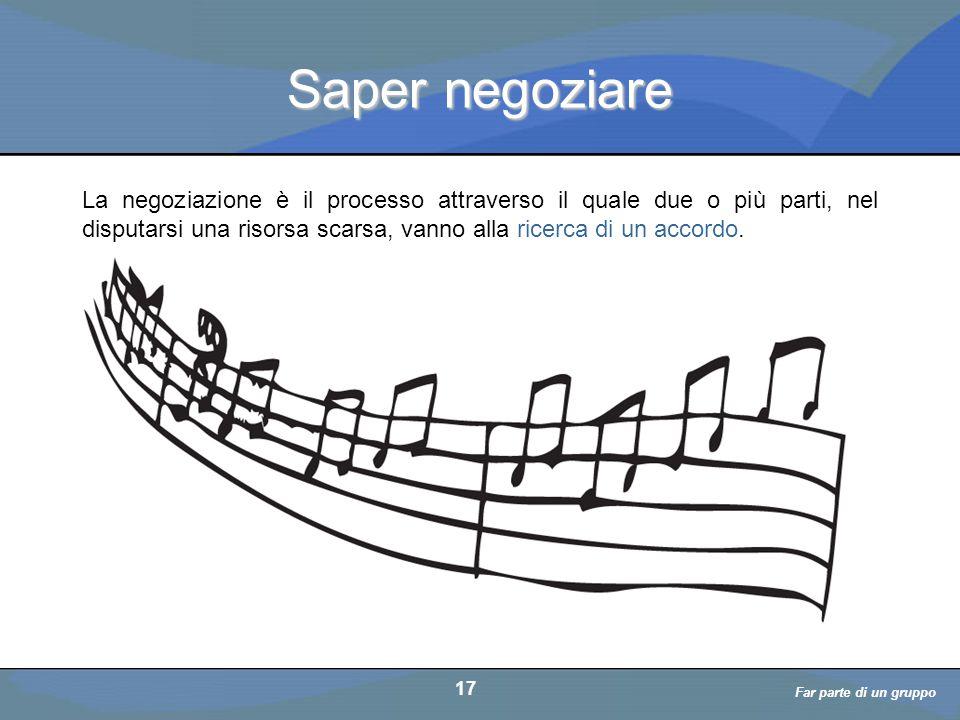 a cura di D. Bellè Laboratorio e-Learning (LabeL) Università di Udine 17 Saper negoziare La negoziazione è il processo attraverso il quale due o più p