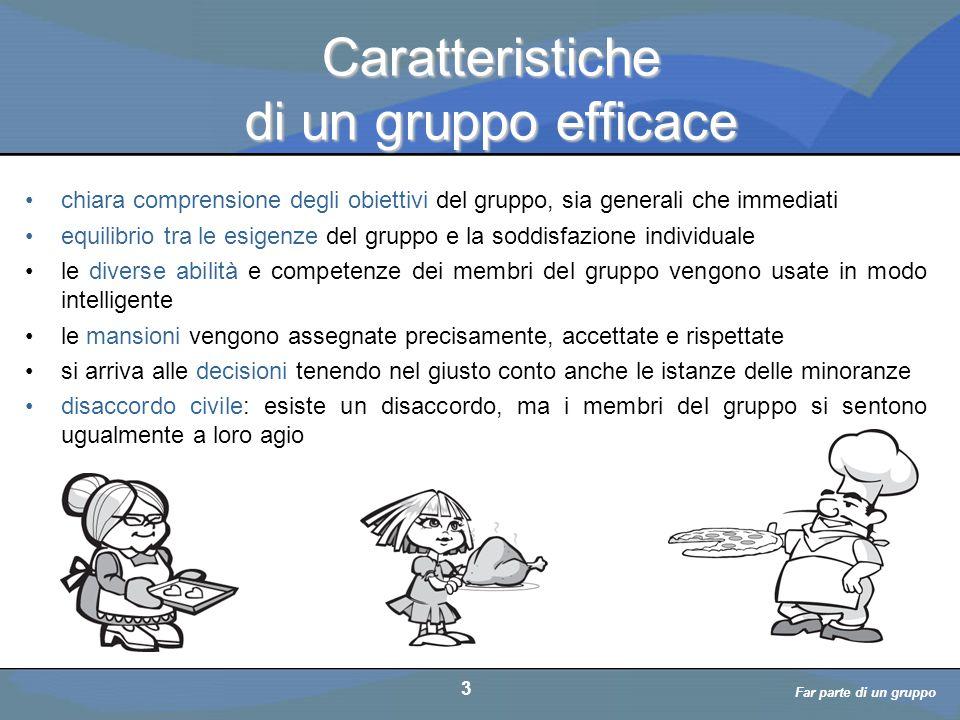 Far parte di un gruppo a cura di D. Bellè Laboratorio e-Learning (LabeL) Università di Udine 3 Caratteristiche di un gruppo efficace chiara comprensio