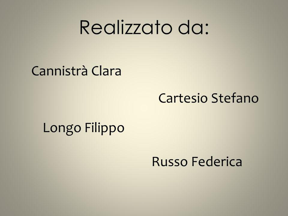 Realizzato da: Cannistrà Clara Cartesio Stefano Longo Filippo Russo Federica