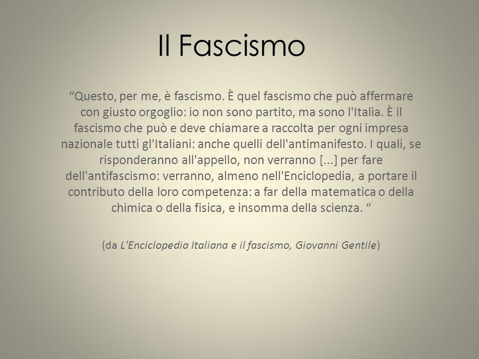 """""""Questo, per me, è fascismo. È quel fascismo che può affermare con giusto orgoglio: io non sono partito, ma sono l'Italia. È il fascismo che può e dev"""