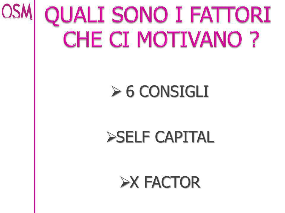  6 CONSIGLI  SELF CAPITAL  X FACTOR