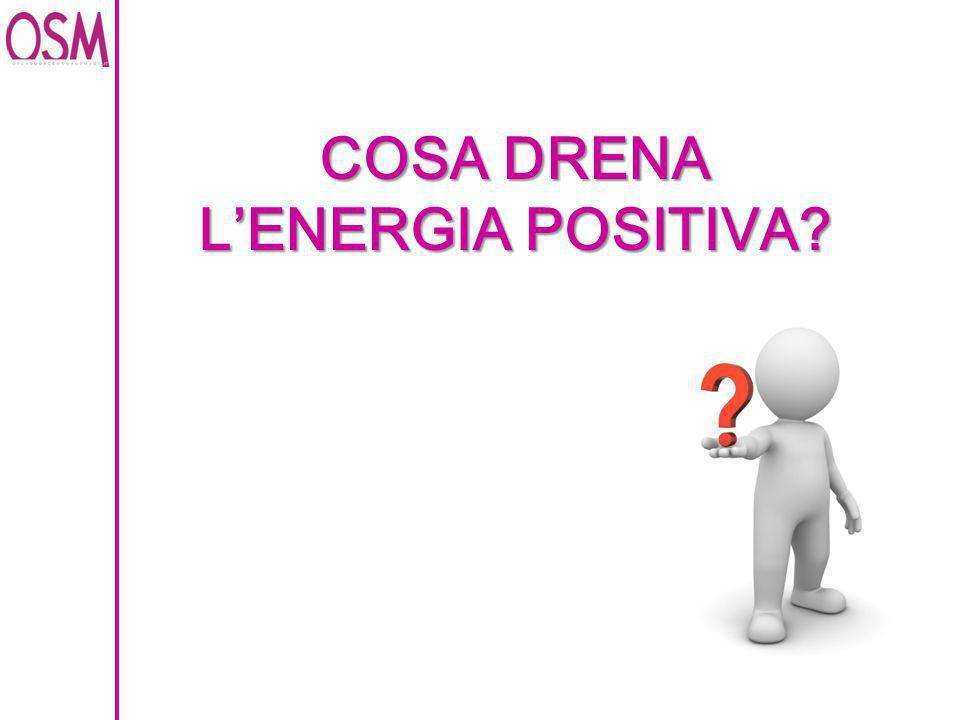 COSA DRENA L'ENERGIA POSITIVA?