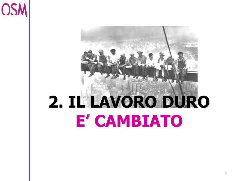 4 2. IL LAVORO DURO E' CAMBIATO