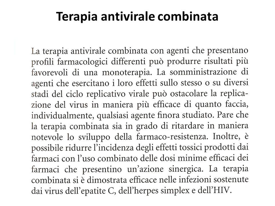 Terapia antivirale combinata
