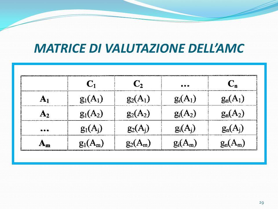 MATRICE DI VALUTAZIONE DELL'AMC 29