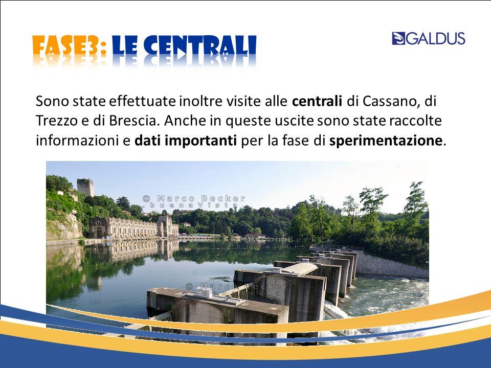 Sono state effettuate inoltre visite alle centrali di Cassano, di Trezzo e di Brescia. Anche in queste uscite sono state raccolte informazioni e dati