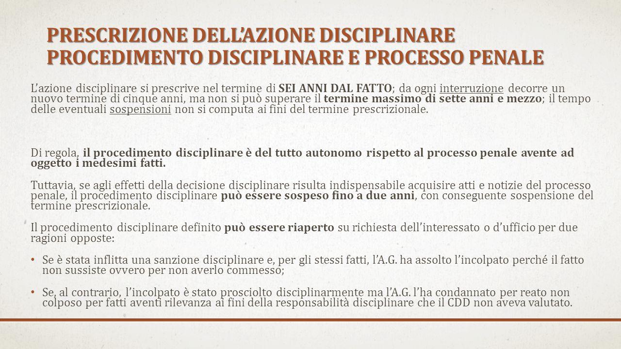 Poiché il potere disciplinare appartiene in via esclusiva al CDD, se è presentato un esposto o una denuncia al COA, anche dall'A.G.