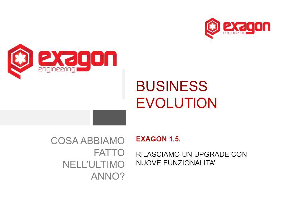COSA ABBIAMO FATTO NELL'ULTIMO ANNO.EXAGON 1.5.