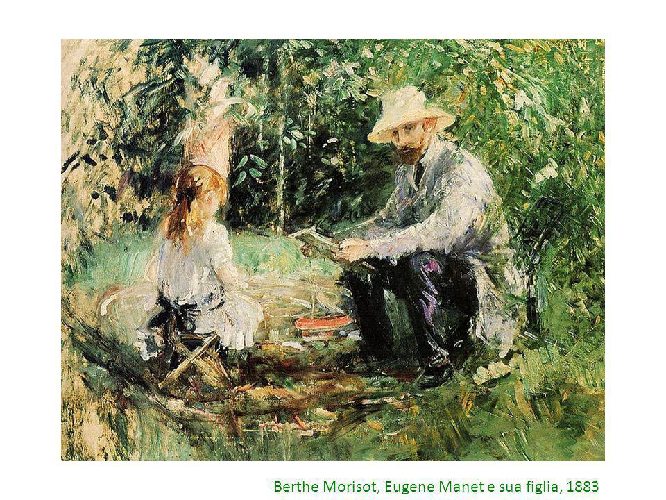 Berthe Morisot, Eugene Manet e sua figlia, 1883