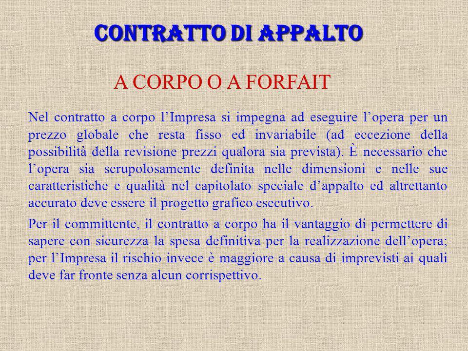 CONTRATTO DI APPALTO L'appalto è definito dall'art. 1655 del Codice Civile come il contratto con il quale una parte assume, con organizzazione dei mez