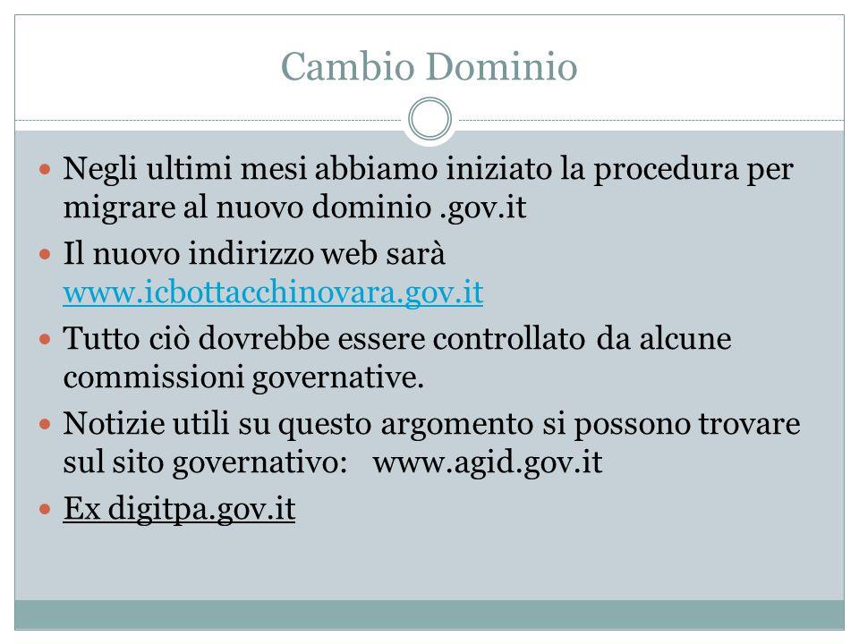 Area servizi online Anche per passare al dominio.gov.it abbiamo dovuto adeguare il sito agli standard nazionali per i siti della pubblica amministrazione.