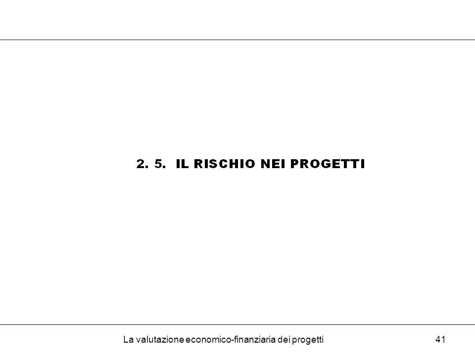 La valutazione economico-finanziaria dei progetti41