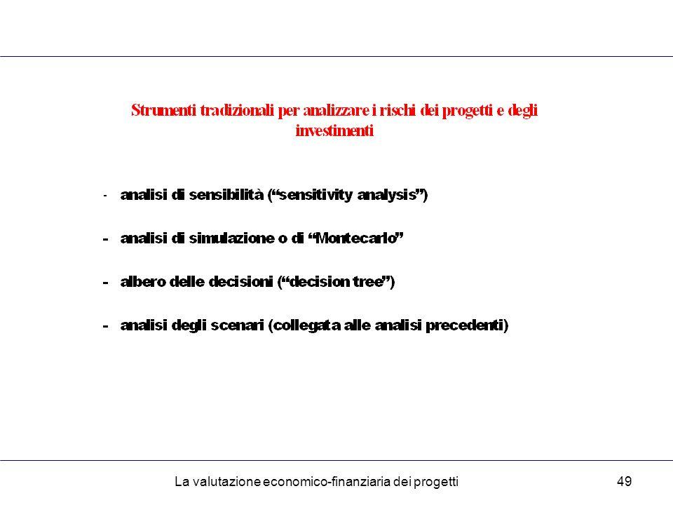 La valutazione economico-finanziaria dei progetti49