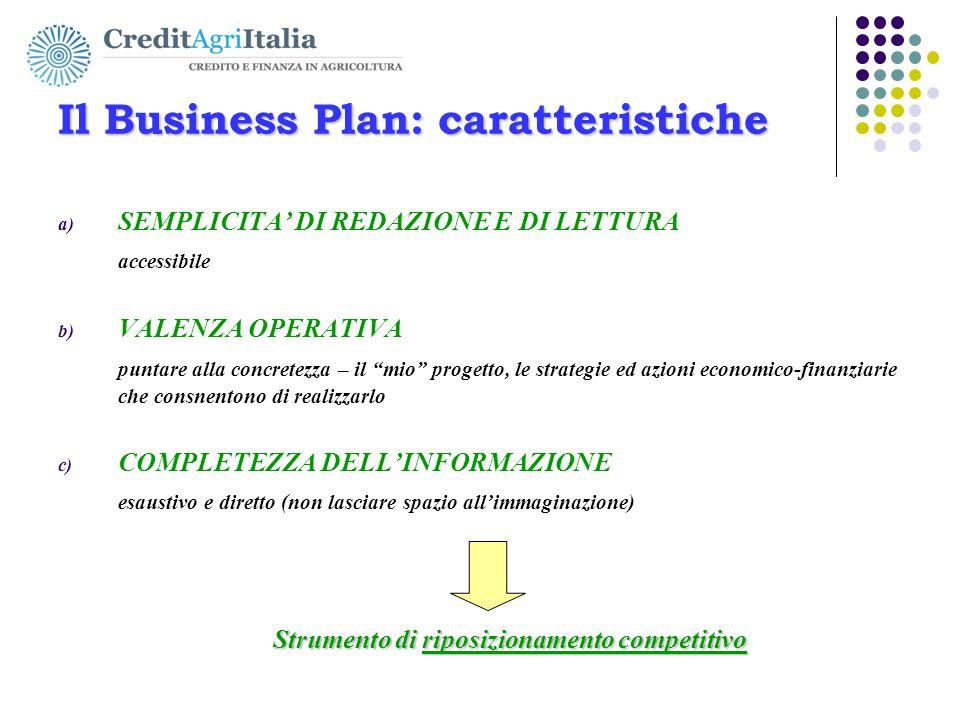 """Il Business Plan: caratteristiche a) SEMPLICITA' DI REDAZIONE E DI LETTURA accessibile b) VALENZA OPERATIVA puntare alla concretezza – il """"mio"""" proget"""