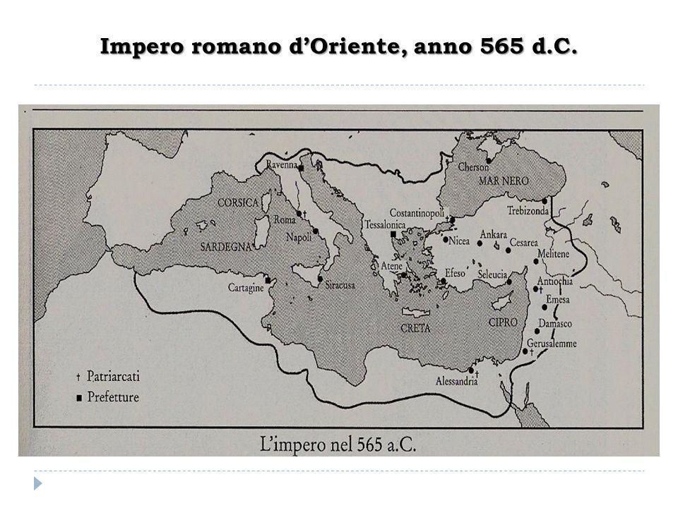 Impero romano d'Oriente, anno 565 d.C.