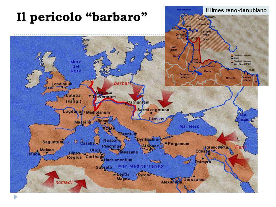 Invasione della penisola iberica e del Nord Africa 406 e 407 VandaliAlani Svevi Burgundi  Già nell'inverno tra 406 e 407, il limes renano era stato oltrepassato da diverse popolazioni: Vandali, Alani, Svevi e Burgundi.