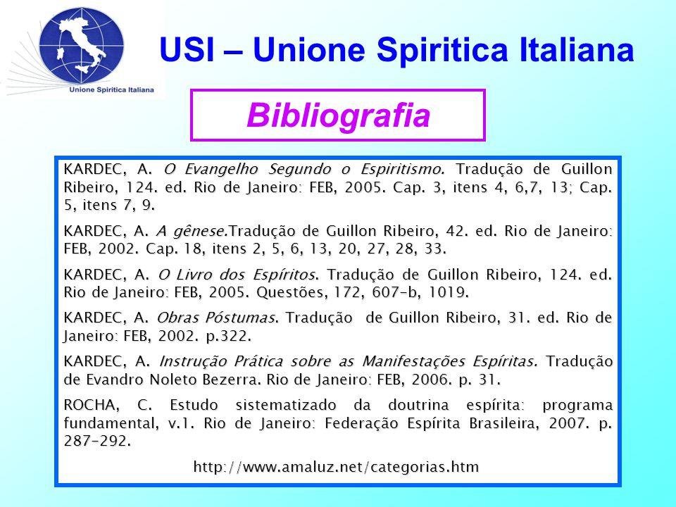 USI – Unione Spiritica Italiana Bibliografia KARDEC, A.