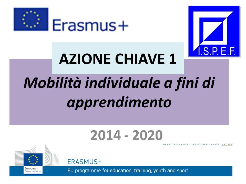 Mobilità individuale a fini di apprendimento 2014 - 2020 AZIONE CHIAVE 1