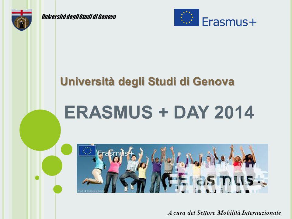 ERASMUS + DAY 2014 Università degli Studi di Genova Università degli Studi di Genova Università degli Studi di Genova A cura del Settore Mobilità Internazionale