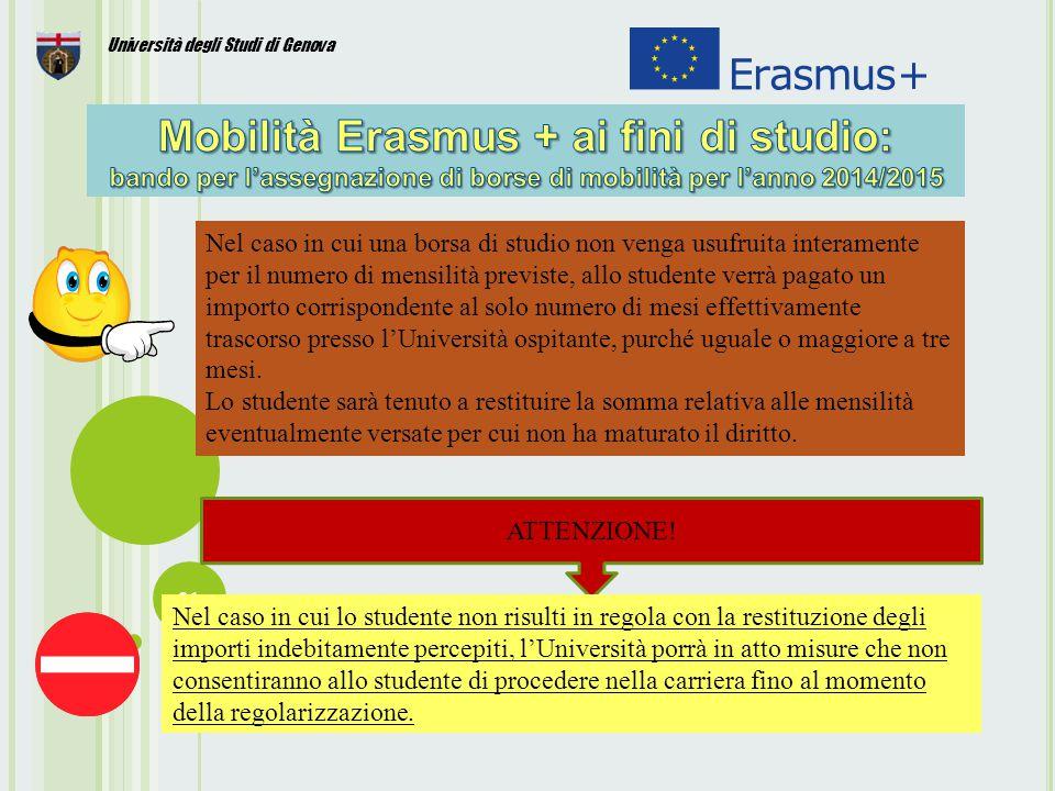 31 Università degli Studi di Genova ATTENZIONE.