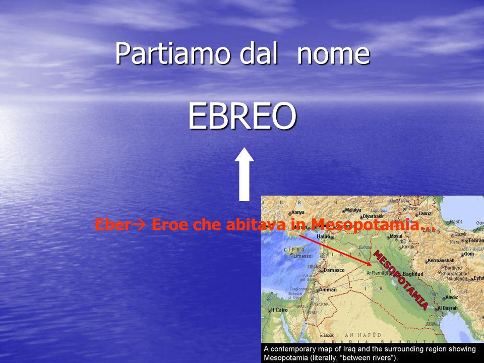 Partiamo dal nome EBREO Eber  Eroe che abitava in Mesopotamia…