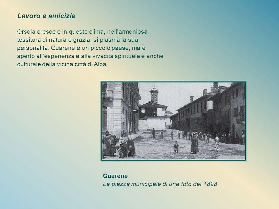 L'incontro con Gesù Eucaristico nella prima comunione, a maggio del 1904, dà un colpo d'ala alla vita di Orsola. Il sacramento della confermazione che