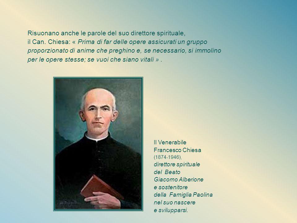 Quando questa ragazza, nella maturità dei suoi 25 anni, entra a S. Paolo, egli le mette tra le mani il libro « Le donne del Vangelo », come strumento