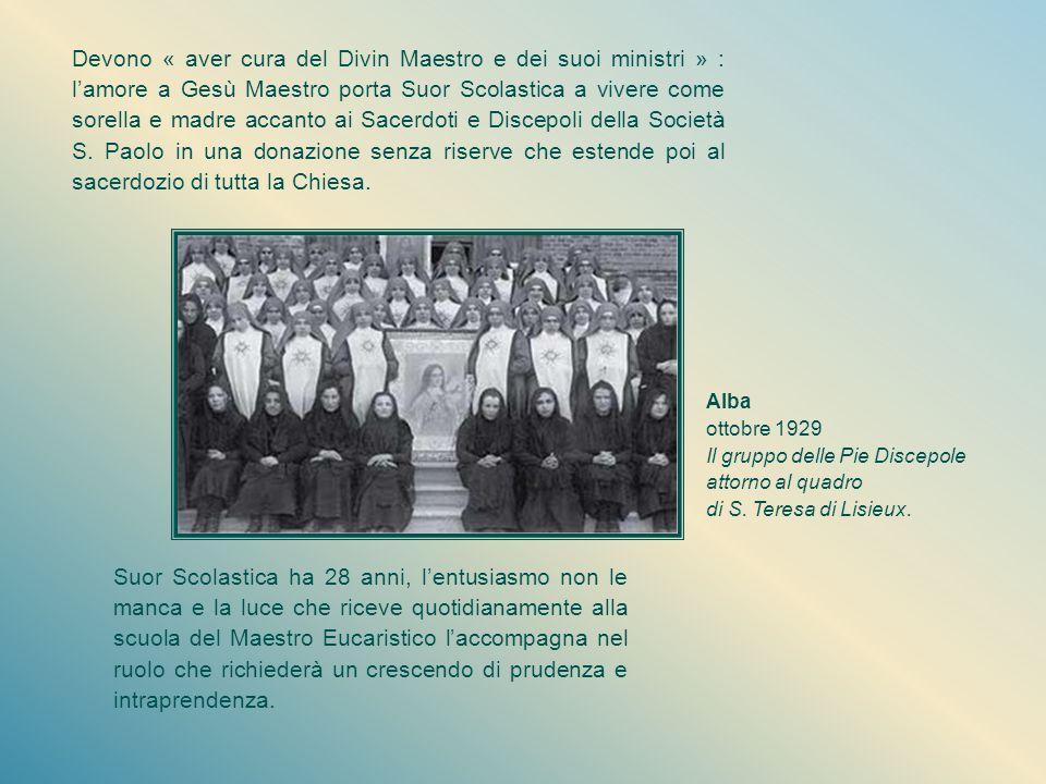 Un nome nuovo, una missione nuova Il 10 febbraio 1924, giorno di S. Scolastica, è scelto da Don Alberione per avviare la nuova fondazione con il primo