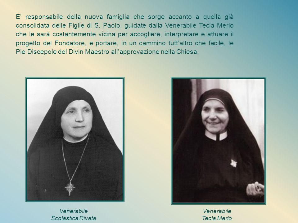 La prima Madre Le Pie Discepole si sviluppano e, guidate da Madre Scolastica, riescono a superare non poche difficoltà e a mantenere viva l'identità a