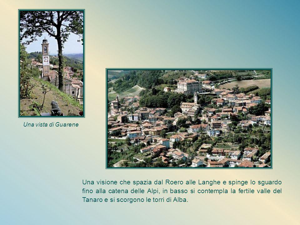 Guarene: un suggestivo angolo del Piemonte L'ambiente di Guarene offre alla piccola Orsola immagini suggestive: sulla rocca più alta si erge l'imponen