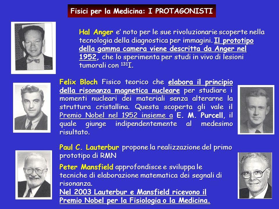 Fisici per la Medicina: I PROTAGONISTI Hal Anger e' noto per le sue rivoluzionarie scoperte nella tecnologia della diagnostica per immagini. Il protot