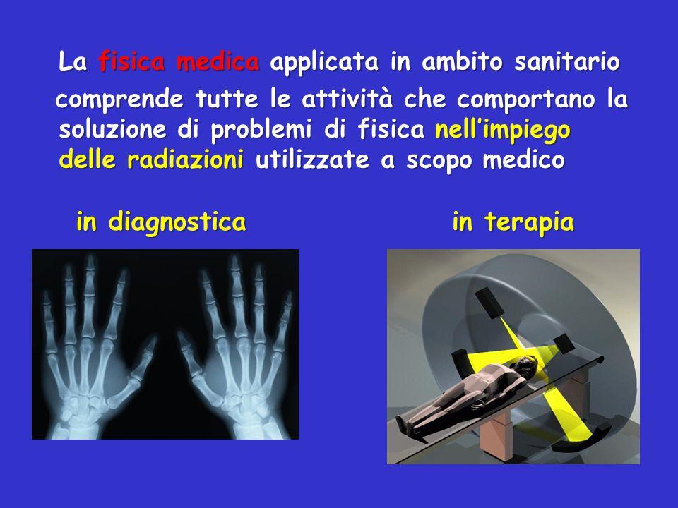 La fisica medica applicata in ambito sanitario comprende tutte le attività che comportano la soluzione di problemi di fisica nell'impiego delle radiaz