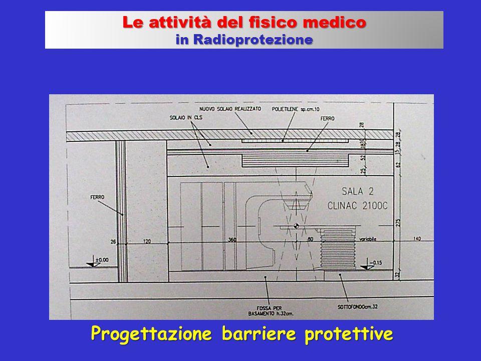 Progettazione barriere protettive Le attività del fisico medico in Radioprotezione